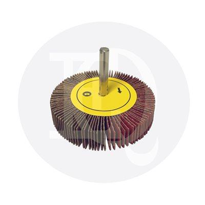 Flap wheel 2 1 / 2 x 1 / 2 x shank 1 / 4 grit 60 ceramic